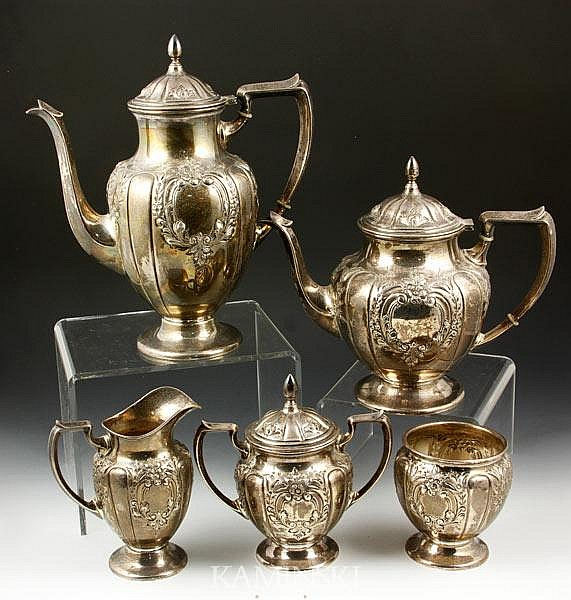 5 Piece Fisher Sterling Tea/Coffee Set