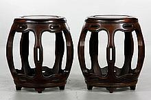 Chinese Pair of Garden Barrels