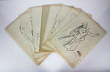 Lot of 13 Chinese Album Paintings