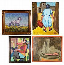 4 Oil Paintings
