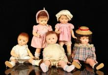 Five Effanbee Patsy Dolls
