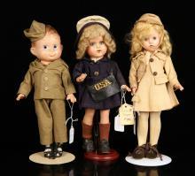 Three U.S. Service Dolls