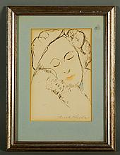 20th C., Figure, Ink on Paper