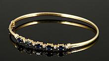 14K Diamond and Sapphire Bracelet