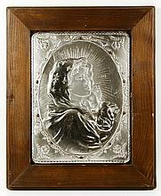 Madonna and Child Silver Plaque