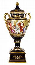 19th C. Vienna Painted Urn