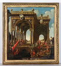 Manner of Guardi, Arch with Figures, O/C