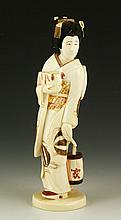 Antique Japanese Carved Ivory Figure
