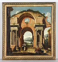 Attb. Guardi, Arch with Figures, O/C