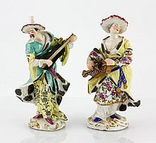 Pair of Paris Porcelain Figures