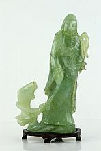 Chinese Carved Jade Standing Figure