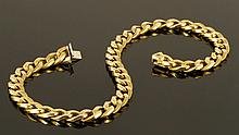 18K Gold 750 Marked Link Bracelet
