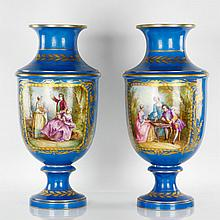 19th C. Pair of Sevres Urns