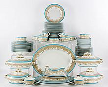 Large Royal Worcester Dinner Set