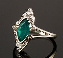 14K Diamond and Stone Ring