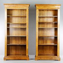 Pair of 20th C. Bookcases