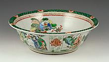 18th C. Chinese Famille Verte Bowl
