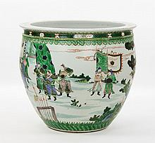 Chinese Qing Dynasty Famille Verte Jardiniere