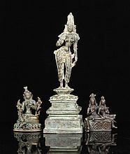 3 Southeast Asian Bronze Figures