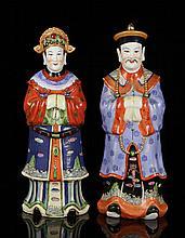 Pr. Chinese Republic Period Ceramic Ancestor Figures