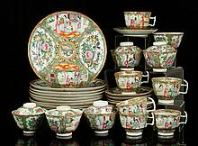 19th C. Chinese Rose Medallion Tableware