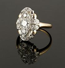 Ladies' 14K Gold and Diamond Ring