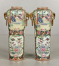 Pr. Chinese Rose Medallion Vases