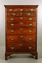 18th C. Pennsylvania Chippendale Walnut Tall Chest
