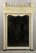 19th C. Gothic Revival Painted Mirror