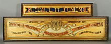 American Folk Art Carved Panel
