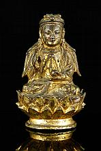 17th C. Chinese Gilt Bronze Buddha