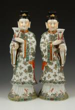 Pr. Chinese Famille Rose Porcelain Figures