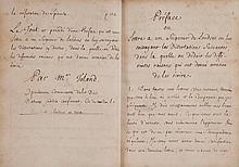 [Philosophie] [Manuscrit inédit]. TOLAND (John).