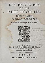 DESCARTES (René). Les principes de la philosophie