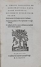 [Livres du XVIe s.]. SALLUSTE. De coniuratione