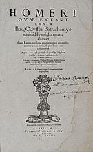 [Livres du XVIe s.]. HOMERE. Homeri quae extant