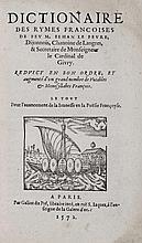 [Livres du XVIe s.]. LE FEVRE (Jean, 1493-1565,