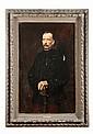 Gabriel FERRIER (1847-1913) Portrait du général Louis André, ministre de la guerre, 1904 Huile sur toile signée et datée en bas à gauche. Accidents Dimensions : 125 x 92 cm Provenance : - Descendance du général Louis André Une autre version ainsi