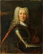 Ecole française vers 1730, entourage de Jean Baptiste Oudry  Portrait d'homme en armure. Toile. 86,5 x 69,5 cm. Restaurations anciennes. Une partie de la toile hors du châssis. Sans cadre.