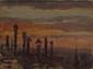 Jeanne LAUVERNAY- PETITJEAN (1875-1955)  Cheminées et paysage de montagne.  Deux huiles sur carton toilé.   16 x 21,5 cm et 24 x 16 cm