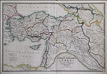 Map of the OTTOMAN DOMINIONS in ASIA with the adjacent frontiers of the Russian and Persian Empires... WYLD J. 1855/1864