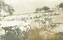 Real photo. Greek soldiers and cannons (Μ.Ν.Μιχαλόπουλος), unused.