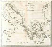 TARDIEU Jean Baptiste Pierre, ?Carte du Golphe adriatique et de larchipel pour servir au Voyage de la Troade?