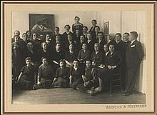 LIONDAS & MAVRIDES, 1940s photo of a group of women, probably graduates of the same girls school, mounted on thick studios carton paper. 17 x 12 cm. VF.