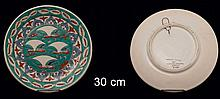 ICAROS Pottery, Hand made in Rhodes Greece, plate. Diameter 30cm.
