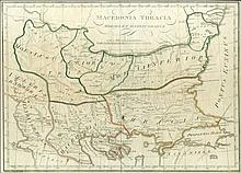 Macedonia Thracia Moesia et Illyris Graeca copper plate map from Franz Reisser