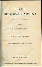 Homeri Odysseae carmina / Cum apparatu critico Ediderunt J. Van Leeuwen et M. B. Mendes da Costa, Lugduni Batavorum Sijthoff, 1890. 2 volumes