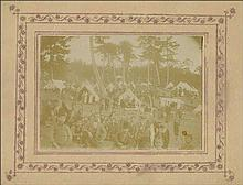 Turkey c.1900. Feast (??). Photo on passe-partout (28x23cm). Faded, carton with edge-wear.