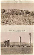 Acropolis c.1870. Nineteen (19) early photographs on six (6) cartons prob. detached from photo album