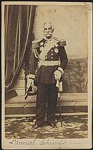 Admiral GEORGE SACHINIS, early (before 1864) CDV albumen photo, portrait of the hero of the Greek Re